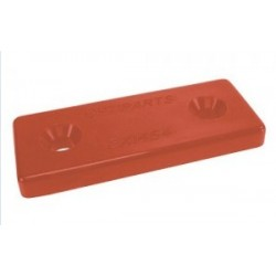Nylon mounting plate, red